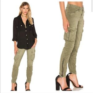 L'AGENCE Montgomery Skinny Cargo Pant Green
